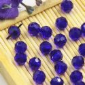 Beads, Auralescent Crystal, Crystal, Dark blue , Faceted Rounds, Diameter 6mm, 10 Beads, [ZZC231]